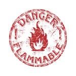 Danger flammable grunge rubber stamp — Stock Vector