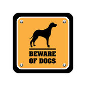 Beware of dogs sign — Stock Vector