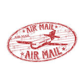 Air mail grunge rubber stamp — Stock Vector
