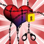 Prisioneros del amor — Vector de stock