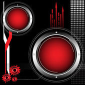 Rounded red frames — Stock Vector