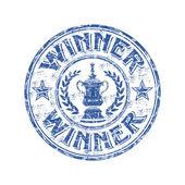 Winner grunge rubber stamp — Stock Vector