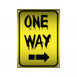 Stock Vector: One way sign
