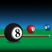 Billiard balls — Stock Vector