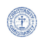 Christianity grunge rubber stamp — Stock Vector
