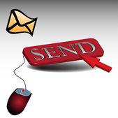 Send button — Stock Vector