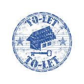 To let grunge rubber stamp — Stock Vector