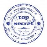 Top secret grunge rubber stamp — Stock Vector