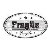 Fragile grunge rubber stamp — Stock Vector