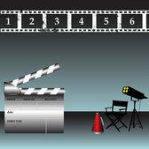Movie director tools — Stock Vector