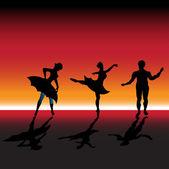 Ballet dancers — Stock Vector