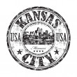 Kansas City grunge rubber stamp — Stock Vector