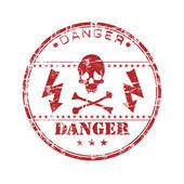 Danger grunge rubber stamp — Stock Vector