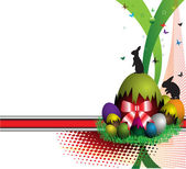 Easter postcard — Vetor de Stock