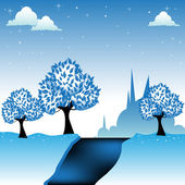 Frozen land — Stock Vector