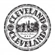 Cleveland Ohio grunge rubber stamp — Stock Vector