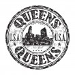 Queens, New York rubber stamp — Stock Vector