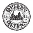 Stock Vector: Queens, New York rubber stamp