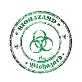 Biohazard grunge rubber stamp — Stock Vector