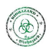 Biohazard grunge rubber stamp — Stock Vector