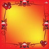 Valentine rám — Stock vektor