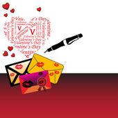 Lettere d'amore — Vettoriale Stock