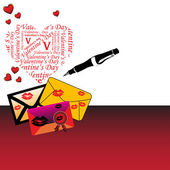 Love letters — Vettoriale Stock