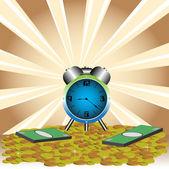 El tiempo es dinero — Vector de stock