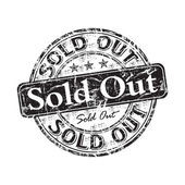 Sold out grunge rubber stamp — Stockvector