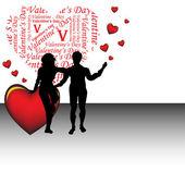 Casal em dia dos namorados — Vetorial Stock