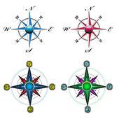Compass set — Stock Vector