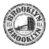 Brooklyn grunge rubber stamp — Stock Vector