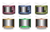 Retro TV set — Stock Vector