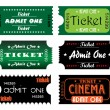 Admit one tickets — Stock Vector #31919079