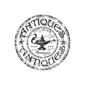 Antiques grunge rubber stamp — Stock Vector