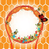 Bee frame — Stockvector
