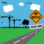 No outlet, dead end — Stock Vector