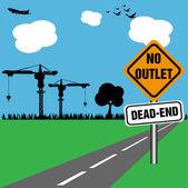No outlet, dead end — Stock Vector