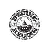 Beijing grunge rubber stamp — Stock Vector