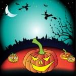 Halloween greeting — Stock Vector #32320273