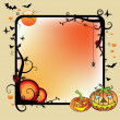 Stock Vector: Halloween frame