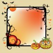 Halloween frame — Stock Vector
