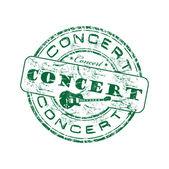 Concert grunge rubber stamp — Stock Vector
