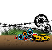 Carro de corrida — Vetorial Stock