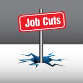 Job cuts — Stock Vector