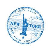New York grunge rubber stamp — Stock Vector