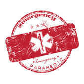 Emergency paramedic grunge rubber stamp — Stock Vector