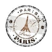 Paris grunge rubber stamp — Stock Vector