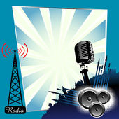 Radio concept — Stock Vector