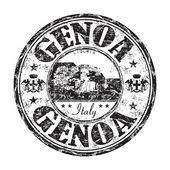 Genoa grunge rubber stamp — Stockvector
